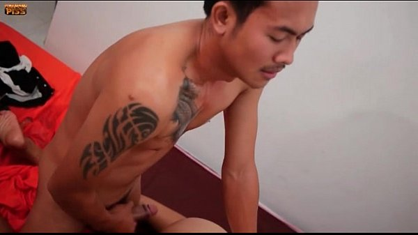 Cute Thai boys drenched with cum and piss